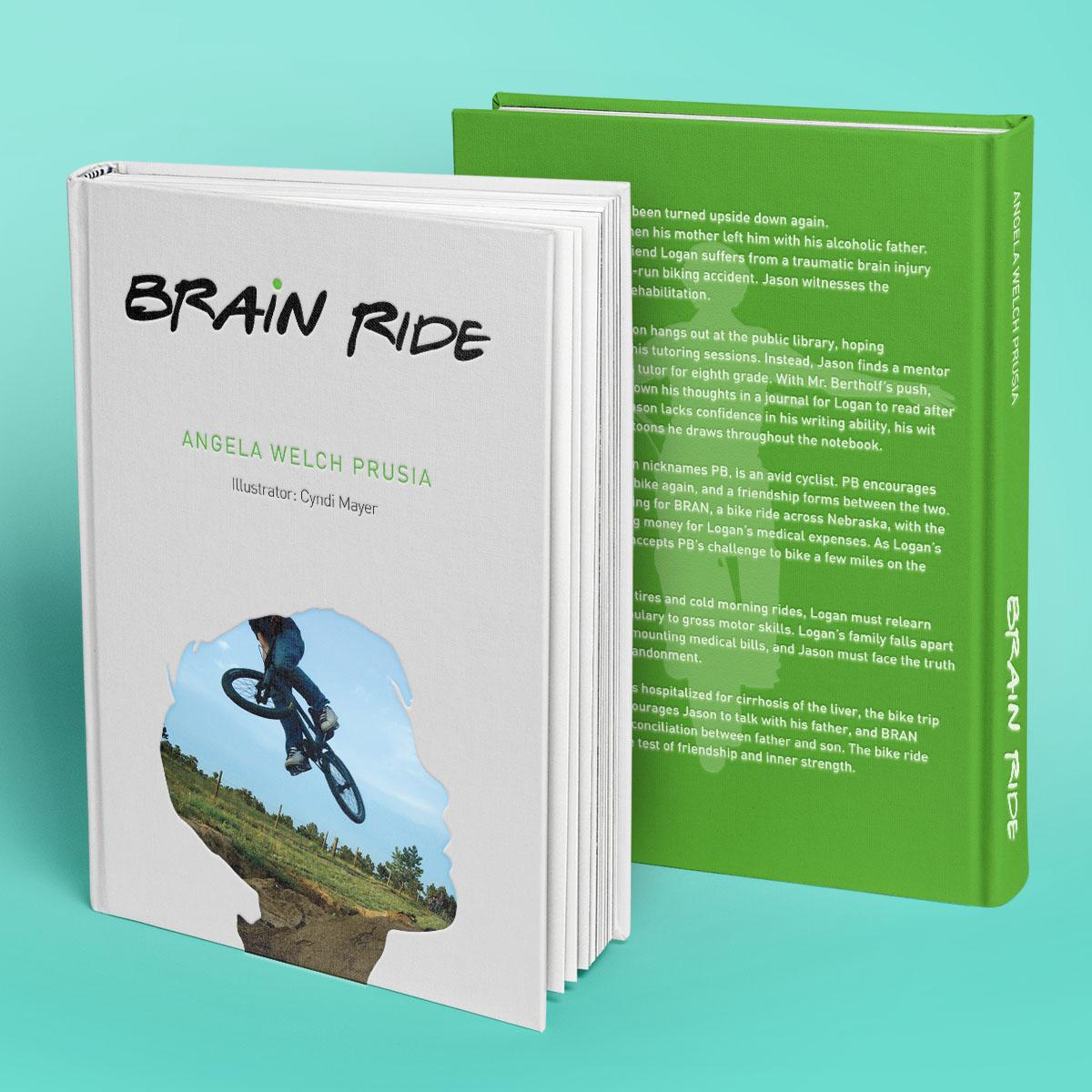 Dimension Web & Graphic Design Portfolio | Brain Ride Book Cover