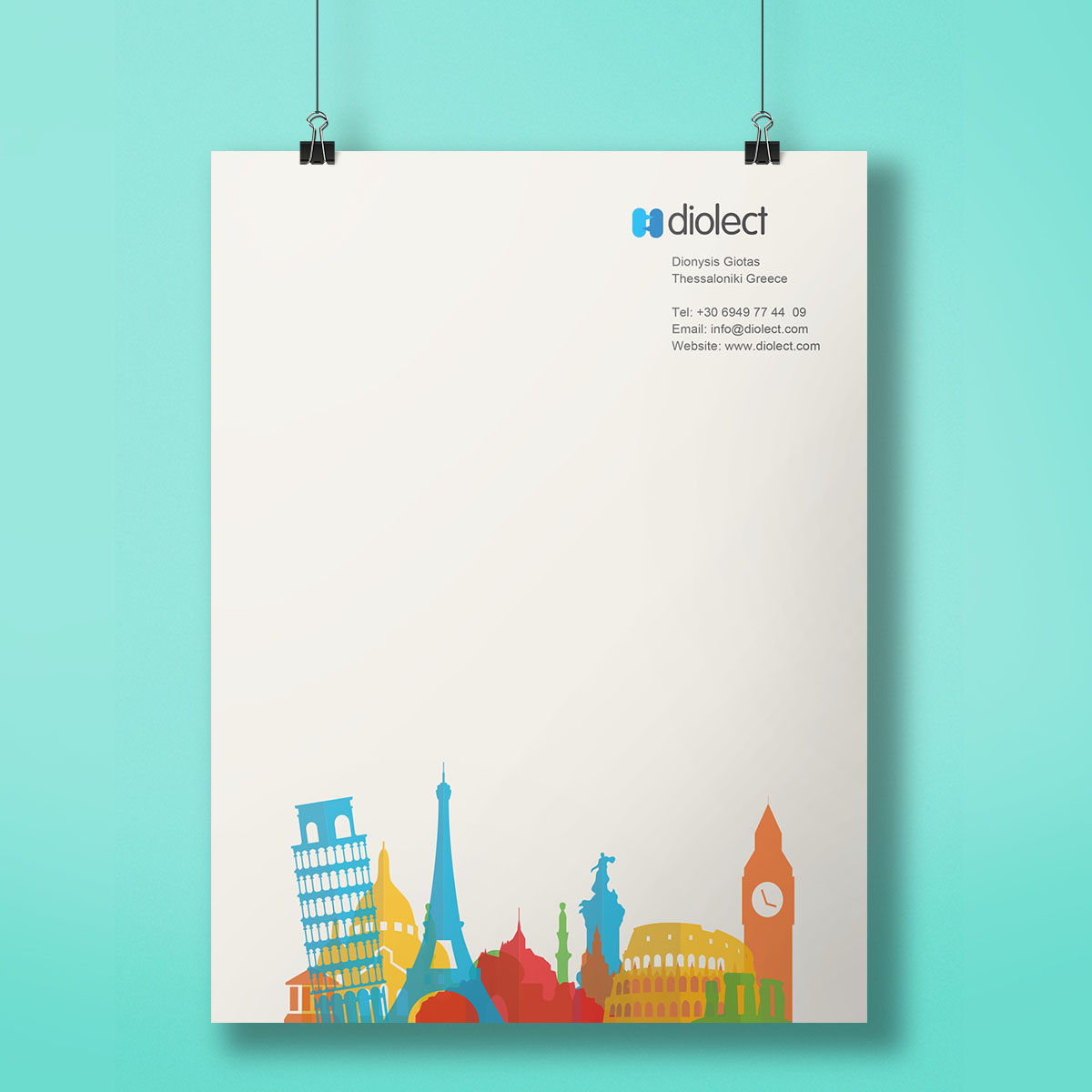 Translation House Corporate Stationery Design: Dimension Web & Graphic Design Portfolio